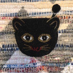 Beaded Kitty Cat Coin Purse